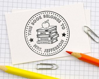 Personalized Teacher Stamp Self Inking Stamp Custom by SunnyAlps