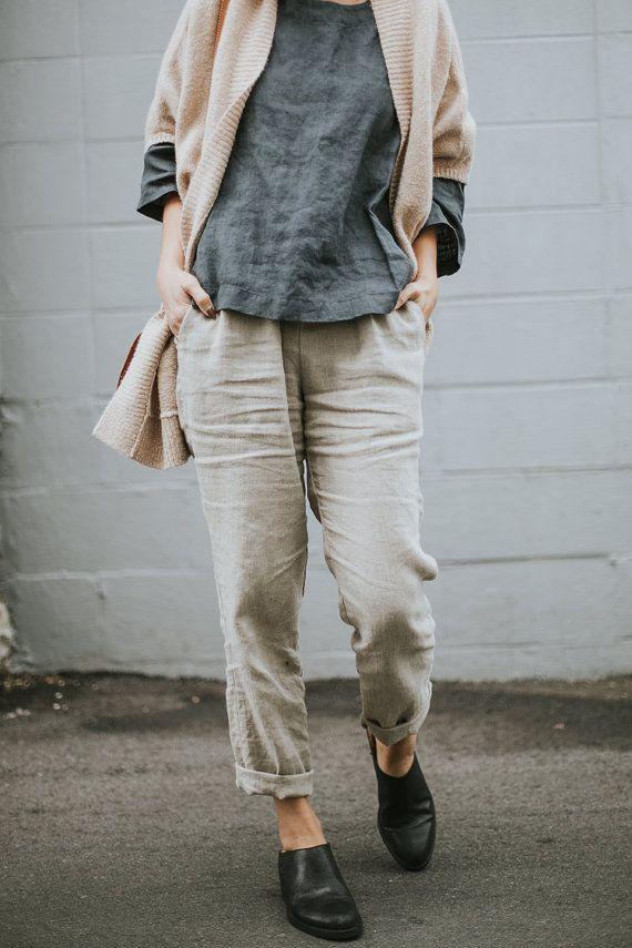 17 Best ideas about Linen Trousers on Pinterest | Women's minimal ...