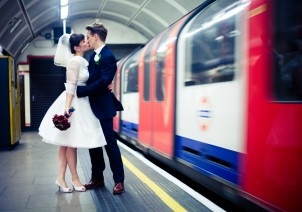 London Tube wedding photoshoot