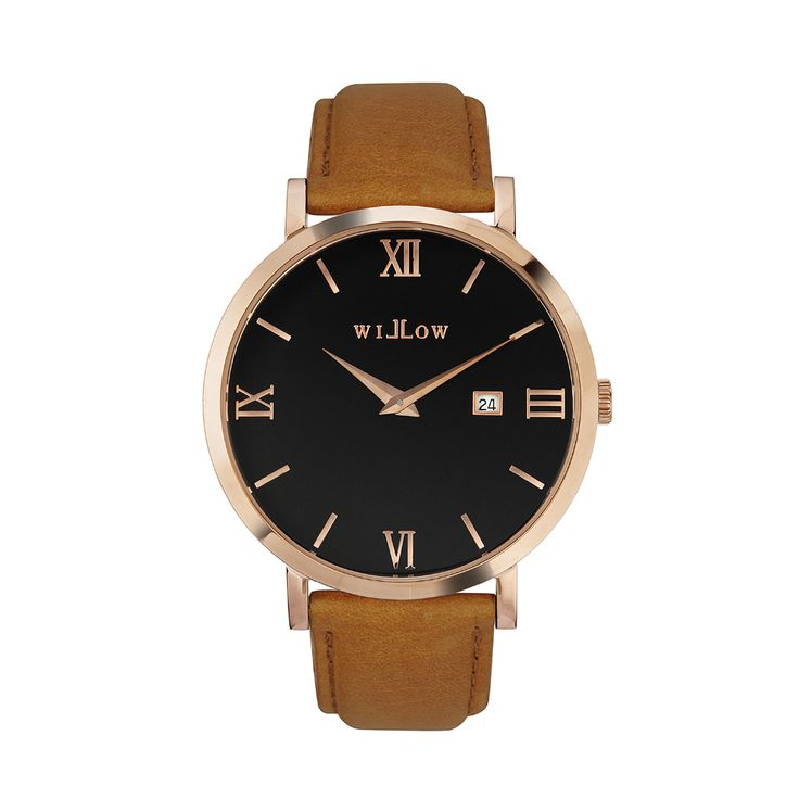 Roma Rose Gold Watch & Interchangeable Tan Leather Strap.