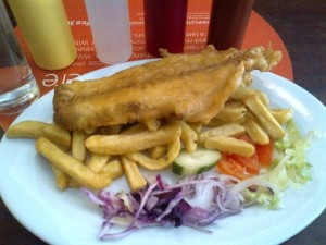 Good fish n chips from Uncle's :-)