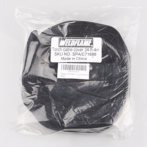 Weldflame TIG Welding Torch Cable Cover 24ft(L)-4in(W) Nylon with Zipper for Torch 26 and 18:   Premium quality TIG welding torch cable cover, Nylon, 24foot length, 4inch width with zipper. brFor air-cooled torch #26 series and water-cooled torch #18 #20. brYou get One (1) cable cover (24ft length,4in width) at this price. FREE SHIPPING within the U.S.