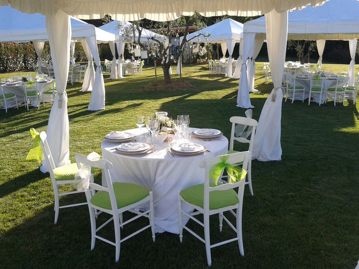 Wedding reception - View from the Bride and Groom gazebo