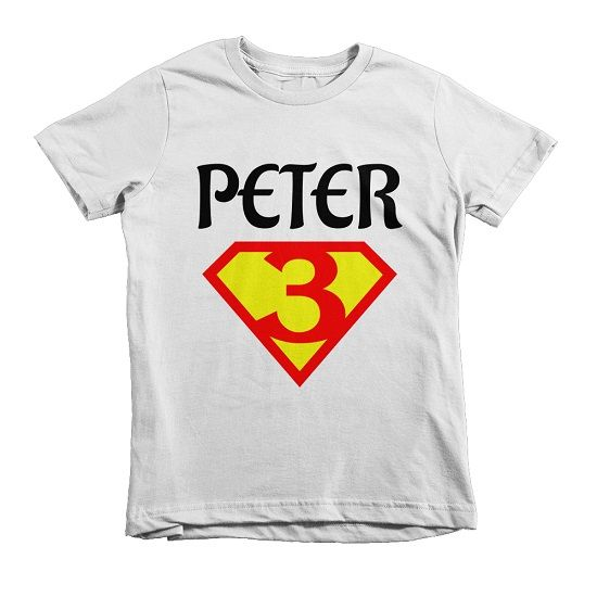 Birthday TEE – TEEmize birthday superhero birthday party tshirt custom name date