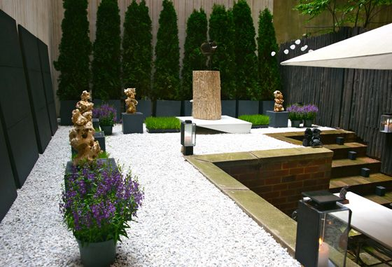 The garden of the office of event-production firm Carmona Design + Events in New York City.