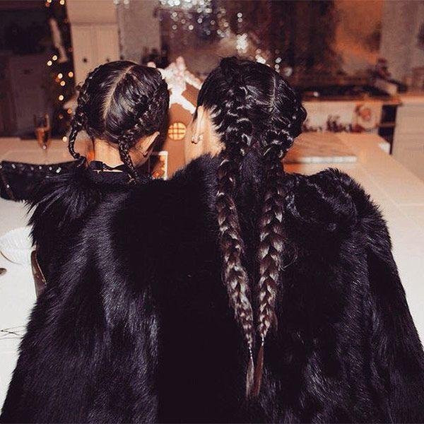 Kim Kardashian & North West braids!