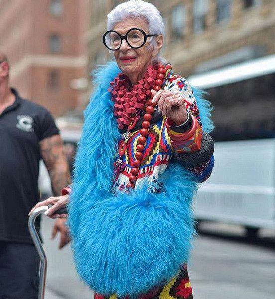 Картинка модной бабушки