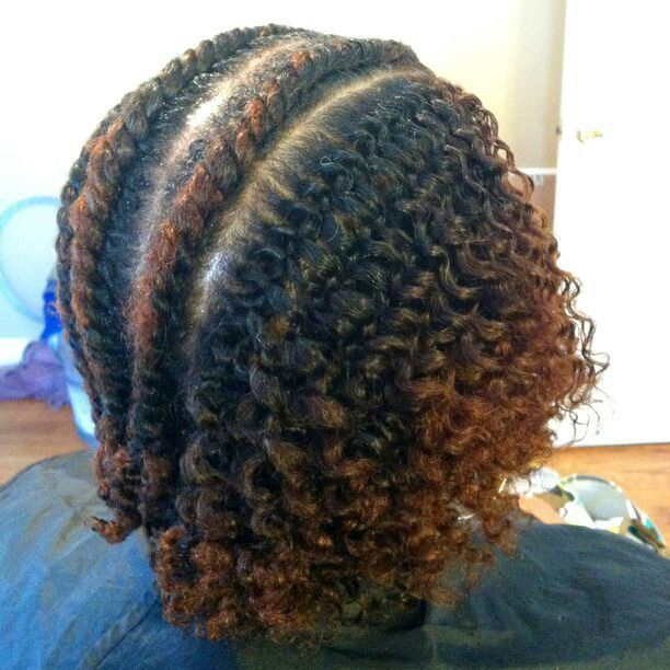 Flat twist out style