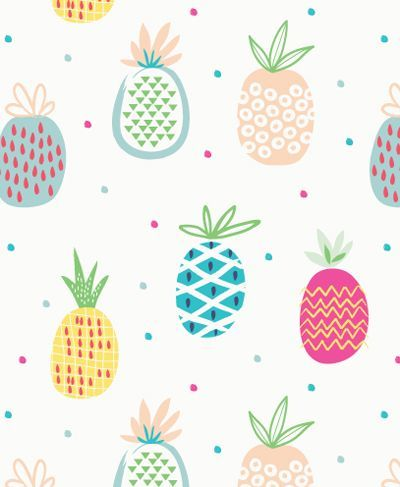 pastel pineapple pattern | ban.do