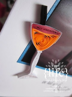 Quilled Bellini  ~  A Bellini is a long drink cocktail that originated in Venice. It is a mixture of sparkling wine (traditionally Prosecco) and peach purée often served at celebrations. It is one of Italy's most popular cocktails.