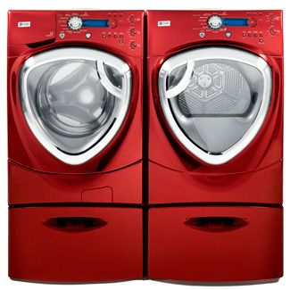 Red Washer & Dryer would love two like this maybe in blue or silver.