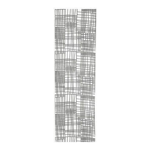 IKEA - LYKKELI, Schiebegardine, Schiebegardinen sind ideal für Fensterdekorationen in mehreren Lagen, als Raumteiler oder vor offenen Aufbewahrungslösungen.Lässt sich leicht auf das gewünschte Maß kürzen, da es nicht gesäumt werden muss.