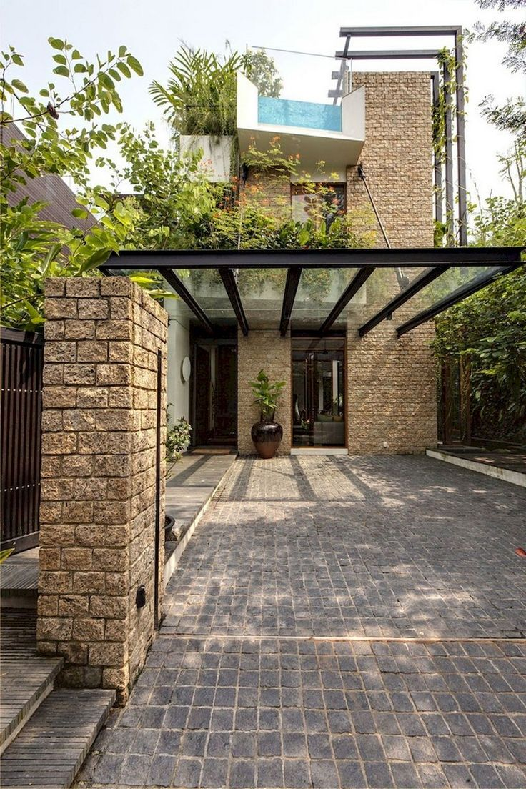 53+ Fascinating Modern Carports Garage Designs Ideas
