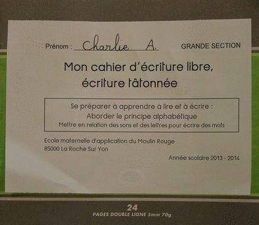 Espace pédagogique : maîtrise de la langue française - écriture tâtonnée en Grande Section