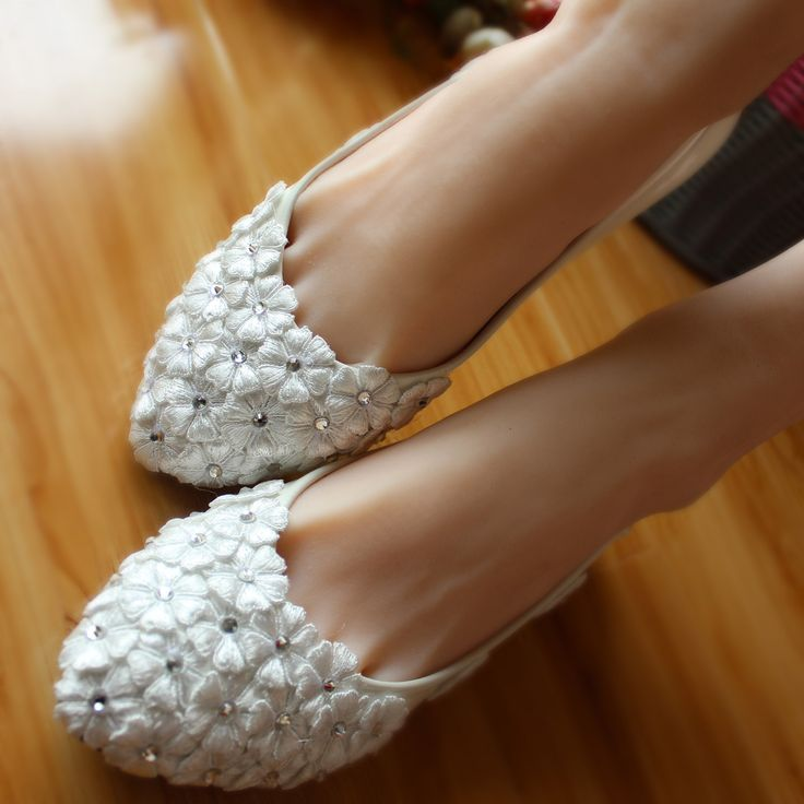 44.00$  Watch now - http://viyup.justgood.pw/vig/item.php?t=evacr6h58372 - Wedding Shoes,Lace Bridal Shoes,Lace Bridal Shoes,Pearl Bridal Shoes,Women Shoes 44.00$