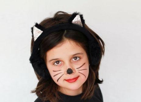 strój kota, bal karnawałowy, jak zrobić, malowanie buzi