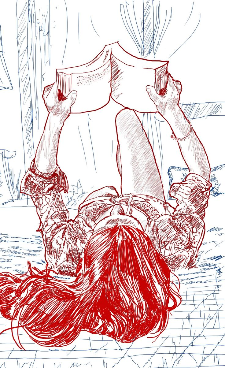 306 Best Woman Reading (illustration Sketch Drawing) Images On Pinterest | Reading Art ...