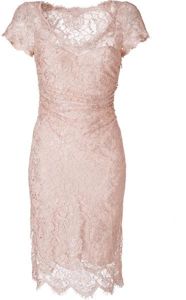 Emilio Pucci Blush Draped Lace Overlay Dress in Pink (blush) - Lyst