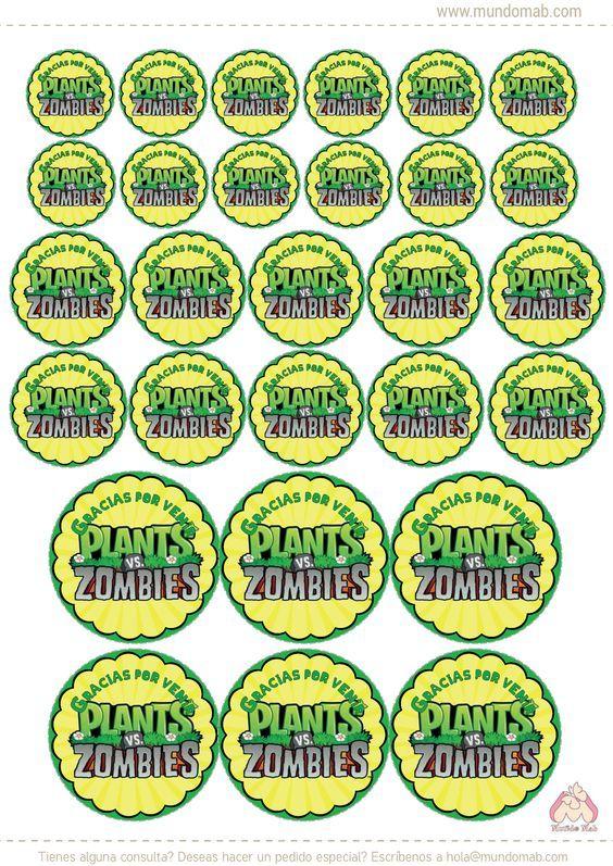 Plantas vs. Zombies: mini kit imprimible gratis - Mundo Mab | Kits de Cumpleaños para imprimir