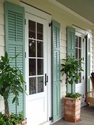 23 best images about exterior shutters on pinterest - Pictures of exterior shutters on homes ...