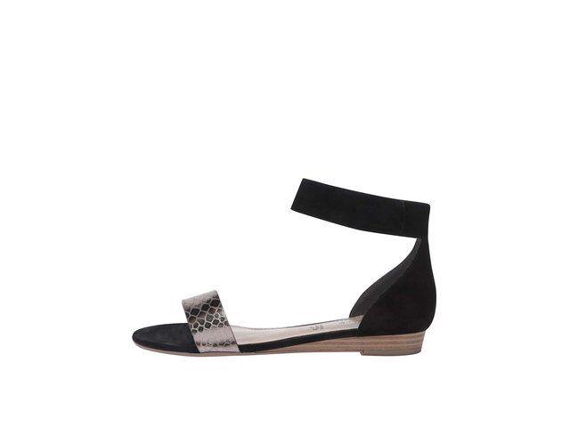 Černé sandály s páskem kolem kotníku s.Oliver -