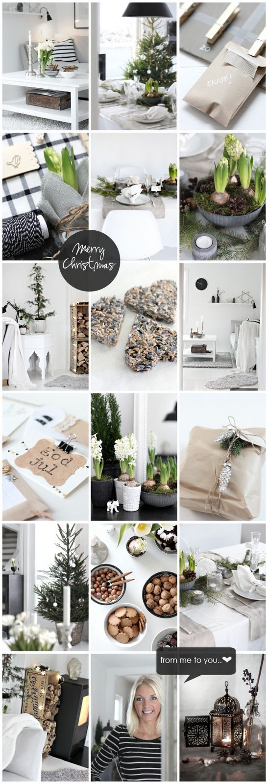 black white and green Christmas