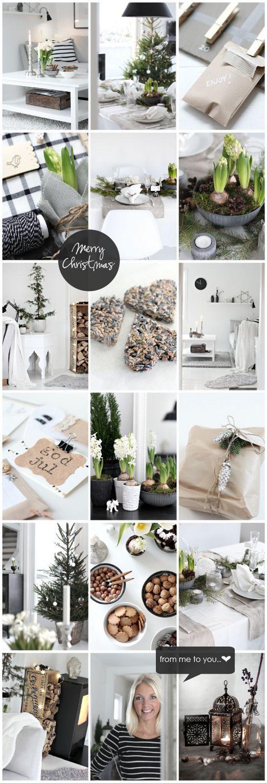 Scandinavian Christmas decorating ideas: black white and green by Nina Holst from stylizimo.com I Skandinavische Weihnachten: dekorieren mit weiß schwarz und grün