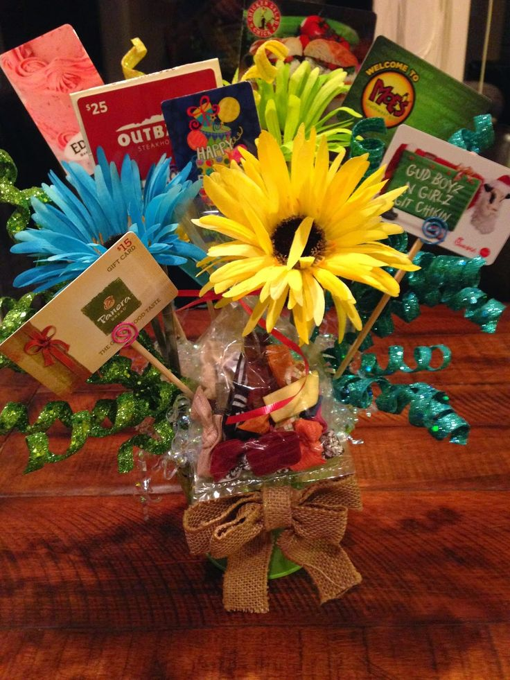 gift card basket idea 25 best ideas about gift card bouquet on pinterest gift 2789