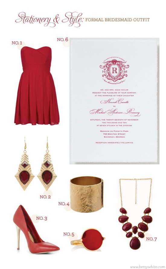 Stationery & Style: Rich reds & gold accentsGold Accent