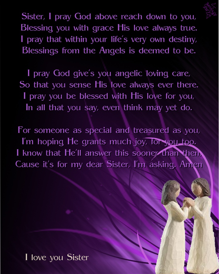 Prayer For My Sister Quotes: For The Sisters