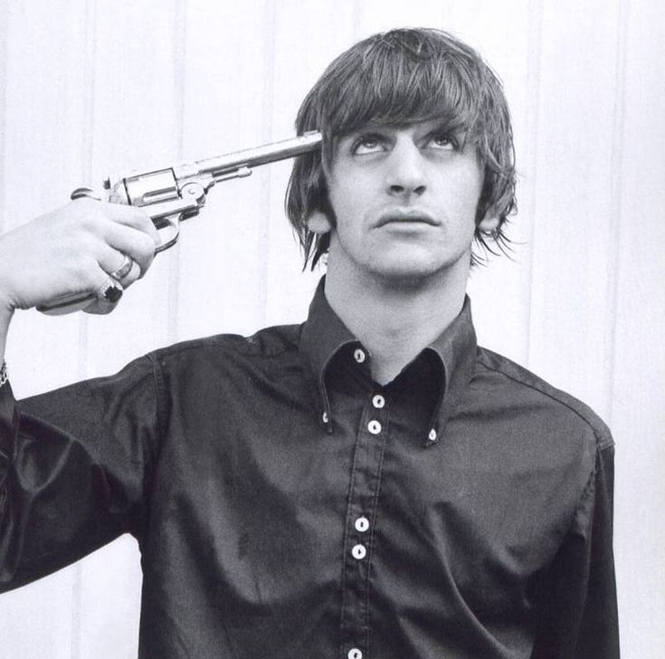 Ringo Starr, 1965. You know, he's probably always felt a bit like this, what with being the ugly beatle and all.