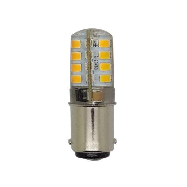 Luxrite BA15D LED 3W 120V 2700K Warm White Light Bulb