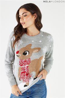 Mela London Baby Reindeer Jumper