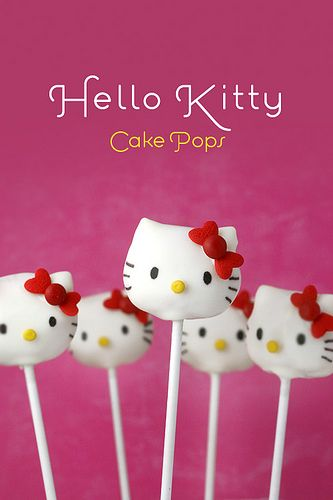 Hello Kitty Cake Pops by Bakerella, via Flickr