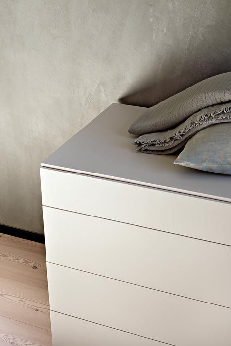LEMA   Result of careful design research by Officinadesign Lema, QUARANTACINQUE is a series of elegant bedside that take its name from refined 45 degrees joints. Ideal testimony of Lema's style, it represents a true work of craftsmanship transposed into industrial production.