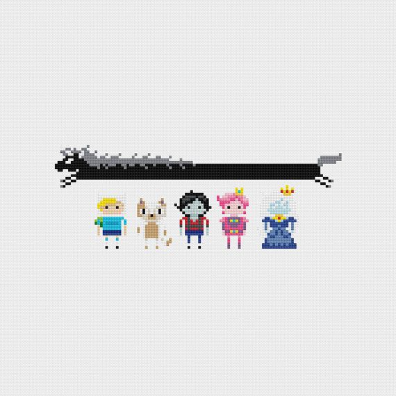 Adventure Time Alternate Cast Cross Stitch Pattern PDF Instant Download