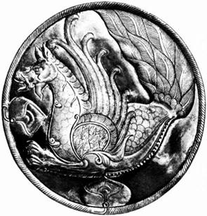 시무르그  -페르시아 신화에 나오는 시무르그는 공작, 그리핀, 사자, 개가 합쳐진 새로 하늘을 상징한다. 불사조와 유사한 점이 있는데, 100년을 주기로 새끼를 낳아 영생한다. 사람처럼 말을 할 수 있을뿐만 아니라 병을 고치는 능력을 가지고 있다.