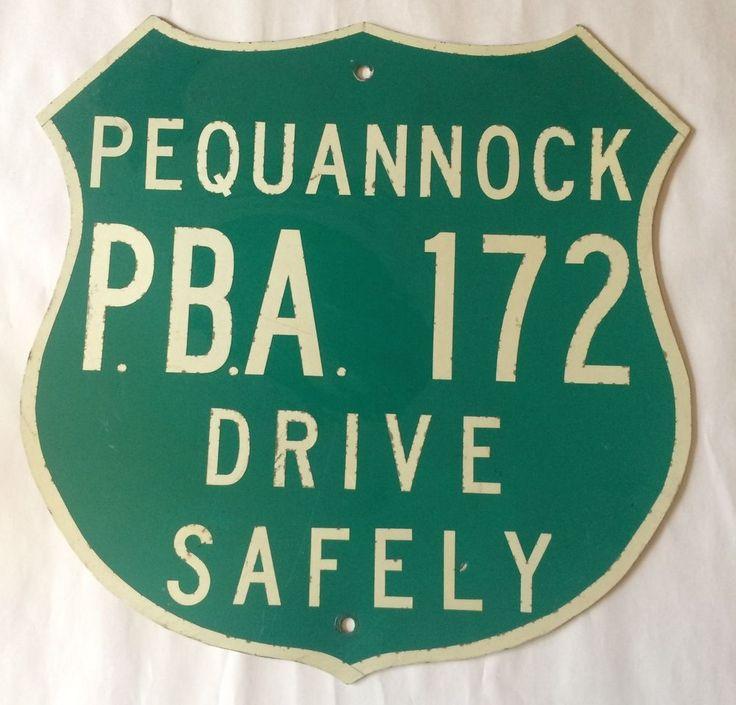 Pequannock NJ PBA 172 Road Traffic Sign Drive Safely Badge Shield Shaped Police