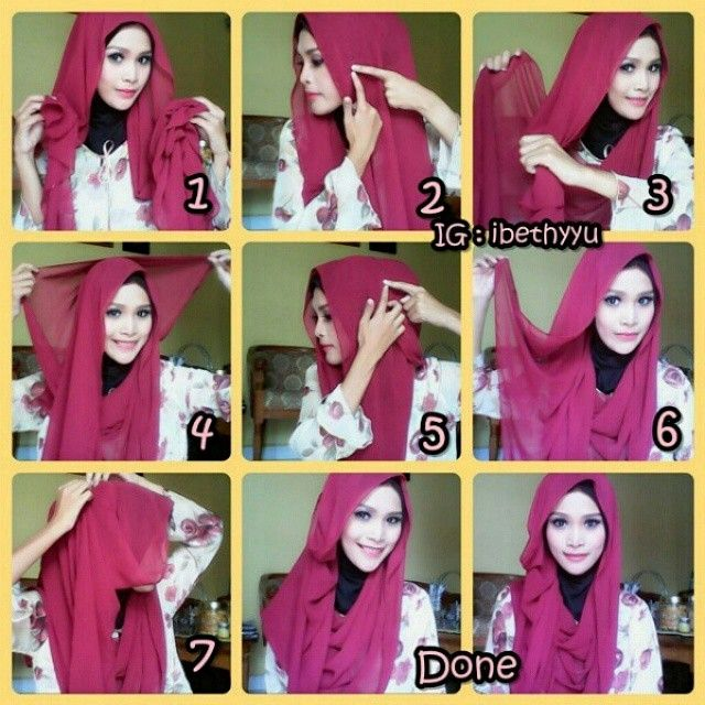 Malaysian Inspired Hijab Tutorial – 7 Steps
