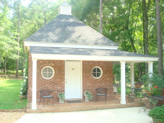 Custom Built Brick Garden Shed With Wrap Around Porch. Terrell County,  Georgia. Visit Us At Stevecoxinc.net | Various Projects | Pinterest |  Gardens And ...