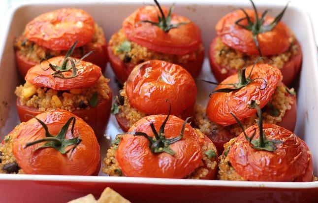 Ντομάτες+γεμιστές+με+πλιγούρι