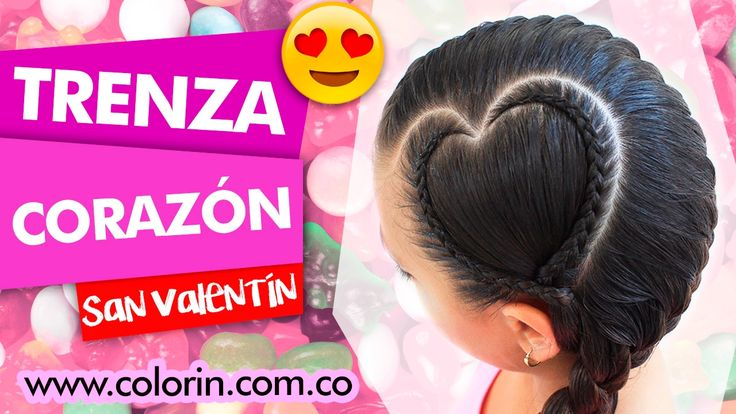 ✔️ Peinado Trenza Corazon | ✔️ Peinado para San Valentin |  Braid San Va...