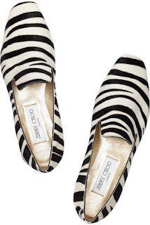 jimmy choo zebra or stripe black and white pattern