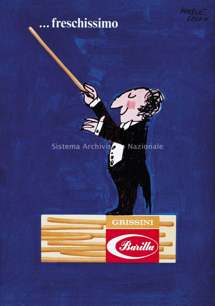 Vintage Italian Posters ~ #illustrator #Italian #posters #vintage ~ Barilla, advertising poster, 1965