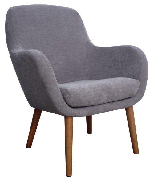 Holly hvilestol Grå - Holly loungestol i gråt stof og ben i oliebehandlet eg.