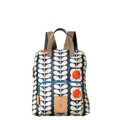 Orla Kiely   UK   Bags   Etc   Tall Flower Stem Print Backpack Tote (15SETFS138)   Ink