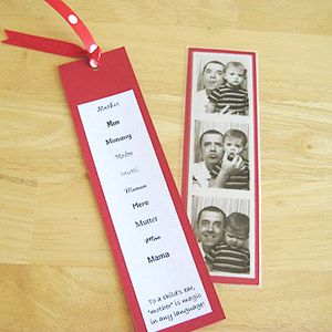 Mother's Day Gift: Photo Bookmark