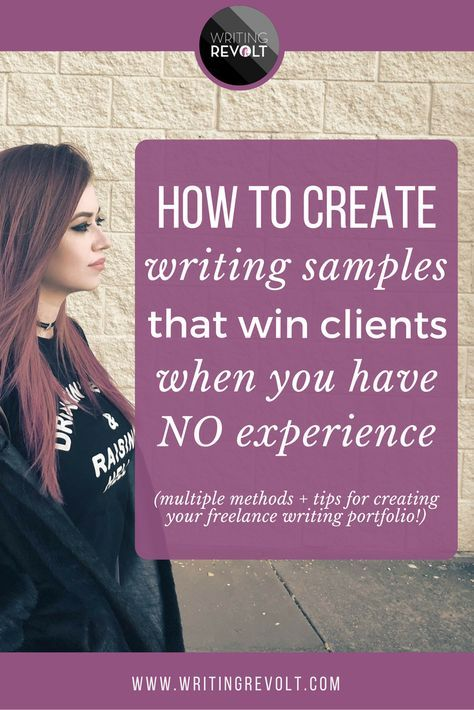 Create a freelance writing portfolio and writing samples that help you land freelance writing clients/jobs – even if you have ZERO experience! This in-depth blog post will show you exactly how it's done. | make money writing online | freelance writing for beginners | how to start freelance writing