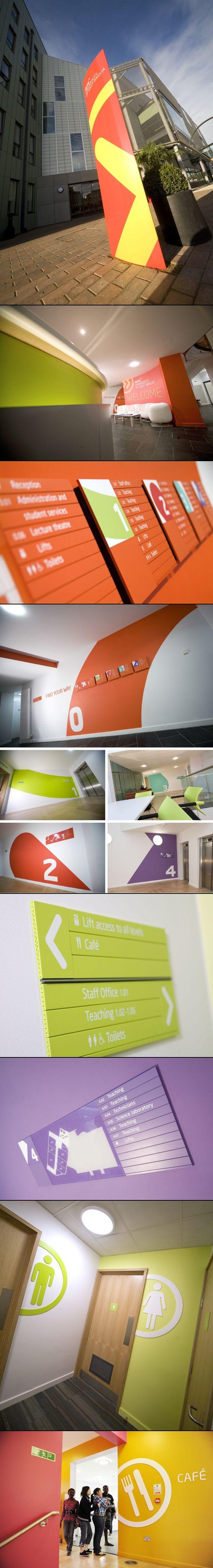 INTO University of East Anglia way-finding signage   Designer: Richard Wise