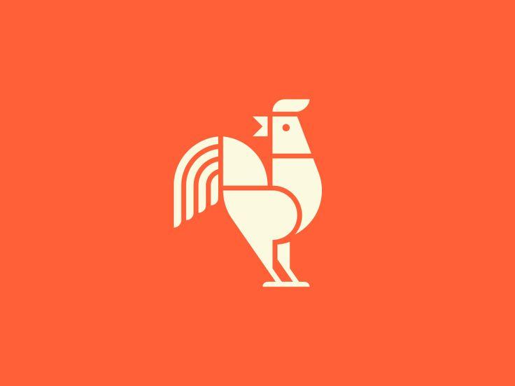 Tim Boelaars #bird #rooster #illustration